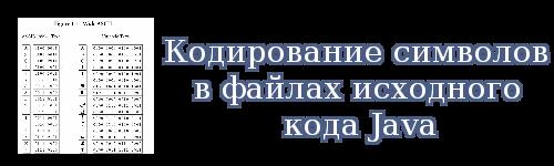 Кодирование символов в файлах исходного кода Java