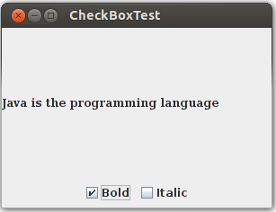 Как создать флажки опций в Java