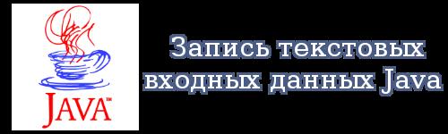 Запись текстовых входных данных Java