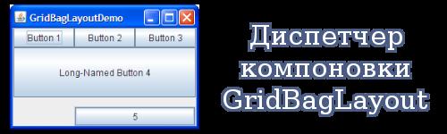 Диспетчер компоновки GridBagLayout Java
