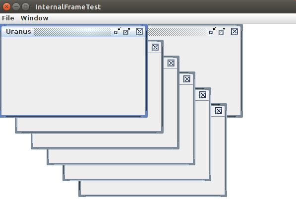 Каскадное и мозаичное расположение фреймов Java