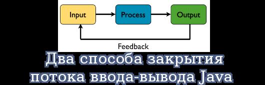 Два способа закрытия потока ввода-вывода Java