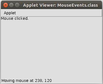 Обработка событий от мыши Java