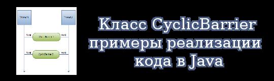 Класс CyclicBarrier, примеры реализации кода в Java