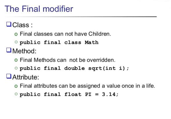 Предотвращение переопределения с помощью ключевого слова final в Java