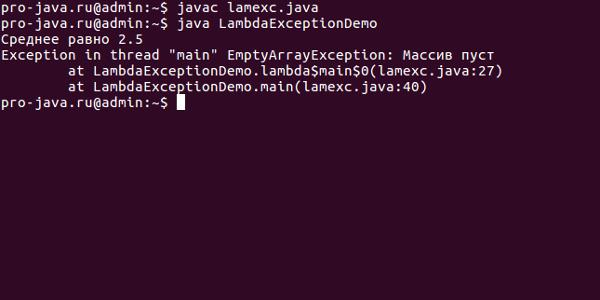 Лямбда-выражения и исключения в Java