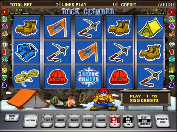 Игровой автомат Rock Climber - экстремальный подъем выигрышей