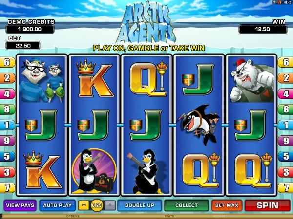 Игровой автомат Arctic Agents - регулярные бонусы и выигрыши для игроков казино Вулкан