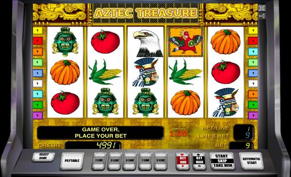 Игровой автомат Aztec Treasure - завоюй сокровища ацтеков в казино Вулкан