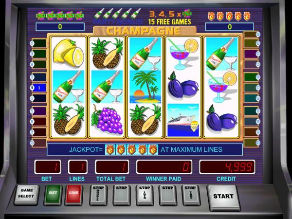 Игровой автомат Champagne - кто не рискует, тот не выигрывает в казино Вулкан