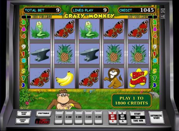 Игровой автомат Crazy Monkey - незабываемые выигрыши для игроков казино Вулкан