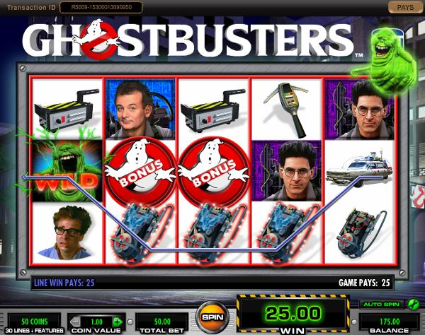 Игровой автомат Ghostbusters - невероятные приключения в казино Вулкан Гранд