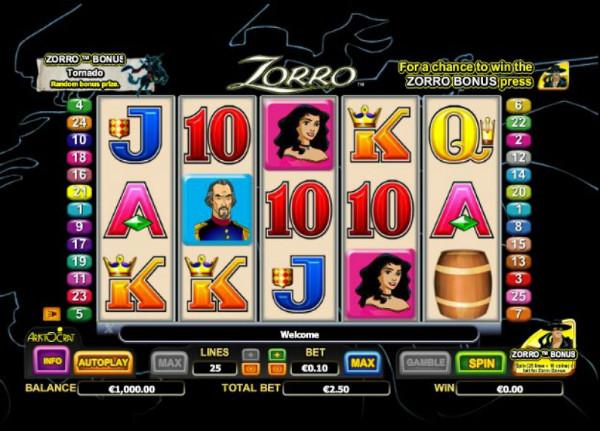 Игровой автомат Zorro - примерь на себя роль героя в казино Вулкан Россия