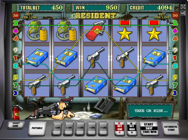 Игровой автомат Resident - заработай шпионом в казино Slotozal 777