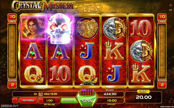 Игровой автомат Crystal Mystery - разгадать тайну черепа и выиграй в казино Вулкан