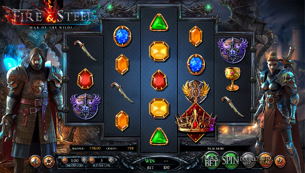 Игровой автомат Fire and Steel: War of the Wilds - удачный слот для игроков казино Вулкан Платинум