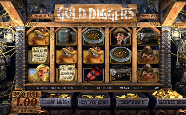Игровой автомат Gold Diggers - слот золотоискателей в казино Вулкан Платинум