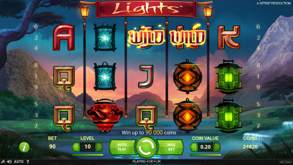 Игровой автомат Lights - выгодные бонусы и регулярные выигрыши в казино Вулкан