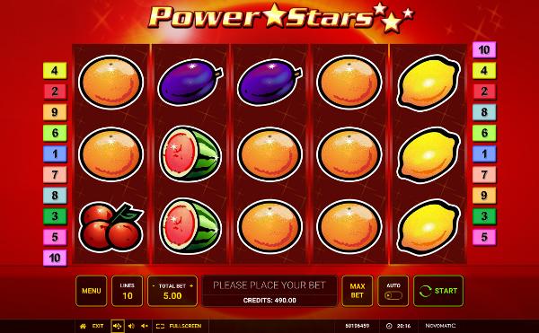 Игровой автомат Power Stars - гарантированные выигрыши и бонусы в казино Вулкан 24
