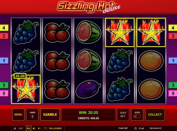Игровой автомат Sizzling Hot Deluxe - фабрика денег в казино Вулкан