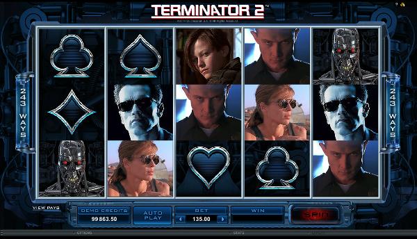 Игровой автомат Terminator 2 - герои фильма принесут удачу в казино Вулкан Делюкс
