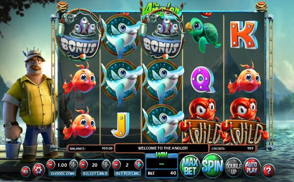 Игровой автомат The Angler - ловите призы на настоящей рыбалке в казино Вулкан