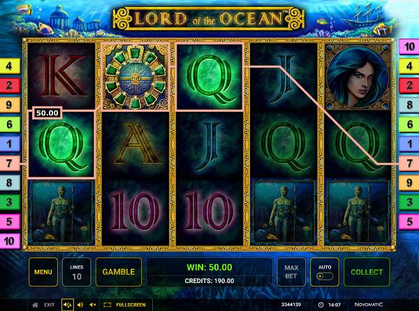 Игровой автомат Lord Of The Ocean - сокровища затонувших кораблей в казино Вулкан