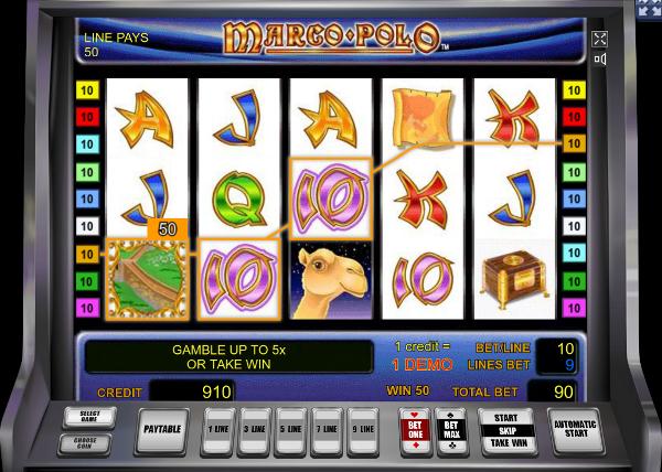 Игровой автомат Marco Polo - используй все выгоды слота в казино Вулкан Делюкс