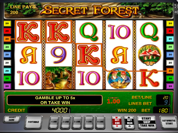Игровой автомат Secret Forest - получай бонус за регистрацию в Азино777